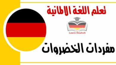 مفردات الخضروات في اللغة الالمانية