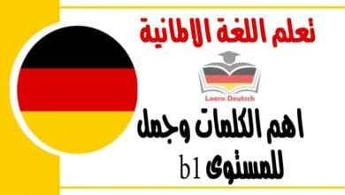 اهم الكلمات وجمل للمستوى b1 في اللغة الالمانية