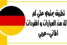 تطبيق يحتوي علي كم هائل من العبارات و المفردات الماني-عربي
