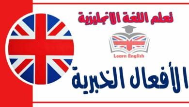 الأفعال الخبرية في اللغة الانجليزية