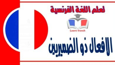 الافعال ذو الضميريين في اللغة الفرنسية