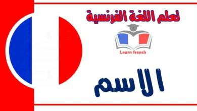 الاسم في اللغة الفرنسية