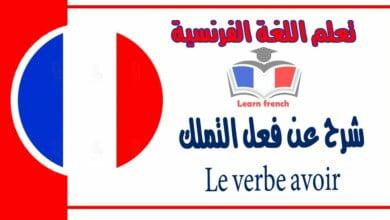 شرح عن فعل التملك Le verbe avoir في اللغة الفرنسية