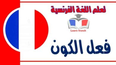 فعل الكون في اللغة الفرنسية