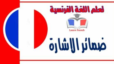 ضمائر الاشارة في اللغة الفرنسية