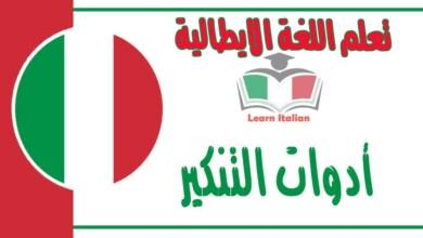 ادوات التنكير في اللغة الايطالية