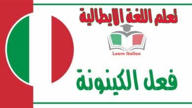 فعل الكينونة في اللغة الايطالية
