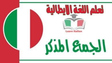 الجمع المذكر في اللغة الايطالية