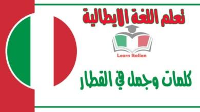 كلمات وجمل في القطار في اللغة الايطالية