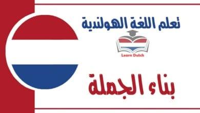 بناء الجملةفي اللغة الهولندية