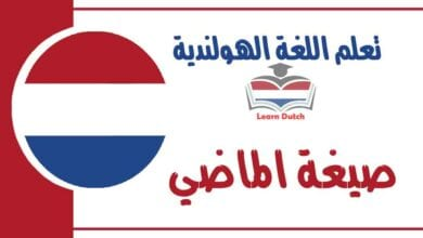 صيغة الماضي في اللغة الهولندية