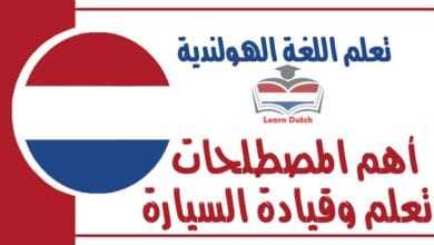 أهم المصطلحات تعلم وقيادة السيارة في اللغة الهولندية