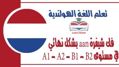 فك شيفرة aan بشكل نهائي في مستوى A1 - A2 - B1 - B2 في اللغة الهولندية