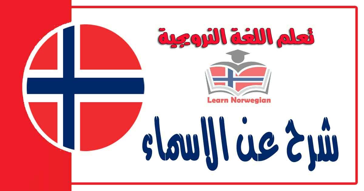 شرح عن الاسماء في اللغة النرويجية