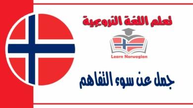 جمل عنسوء التفاهم في اللغة النرويجية