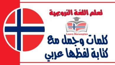 كلمات وجمل مع كتابة لفظها عربي في اللغة النرويجية