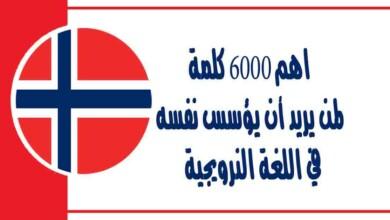 اهم 6000 كلمة لمن يريد أن يؤسس نفسه في اللغة النرويجية وتعلم كيفية نطق الكلمات