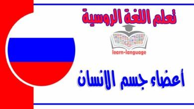 أعضاء الجسم في اللغة الروسية مع اللفظ بالعربي