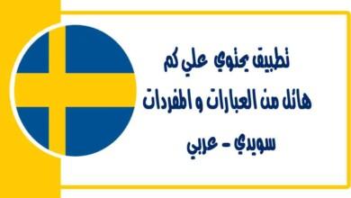 تطبيق يحتوي علي كم هائل من العبارات و المفردات سويدي - عربي