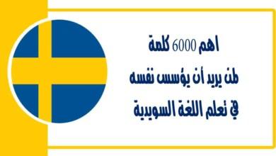 تعلم اللغة السويدية اهم 6000 كلمة لمن يريد أن يؤسس نفسه وتعلم كيفية نطق الكلمات