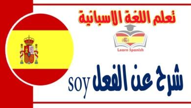 شرح عن الفعلsoy في اللغة الاسبانية