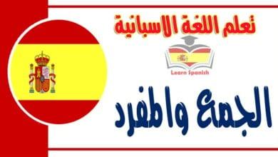 الجمع والمفرد باللغة الاسبانية