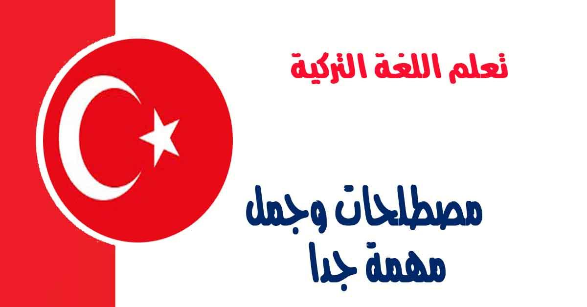 مصطلحات وجمل في اللغة التركية